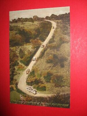 £0.99 • Buy Old Frith's Colour Postcard Vehicles Charabancs Drive Down PORLOCK HILL SOMERSET