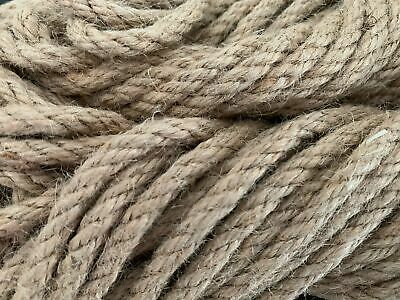 £2 • Buy Jute Rope Natural Twisted Decking Garden Boating 6mm