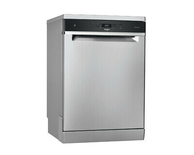 View Details Whirlpool WFC3C33PFXUK 14 Place  Stainless Steel Full Size Dishwasher • 469£