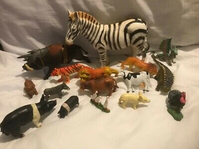 £19.99 • Buy Vintage ELC Britains And Bullyland Plastic Toy Animals Collectable Zebra Warthog