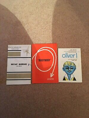 £6 • Buy Vintage Theatre Programmes 1960's Oliver / Busy Body / Instant Marriage Collect