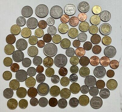 £6 • Buy Mixed Job Lot Of Foreign Coins Current And Old Peseta Drachma Dirham Bhat Rand