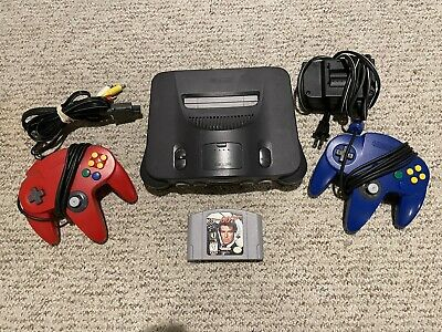 AU98.53 • Buy Nintendo 64 N64 Console Lot With Blue & Red Controllers And Goldeneye