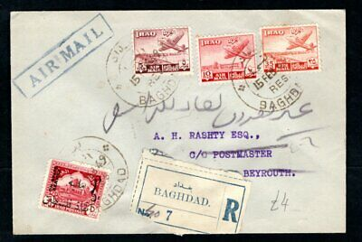 £1.25 • Buy Iraq - 1949 Registered Airmail Cover Baghdad To Beirut, Lebanon