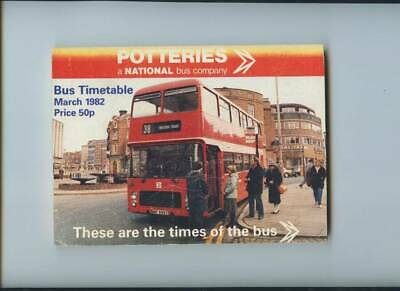£6.99 • Buy Potteries (Staffordshire) Bus Timetable Book, March 1982.