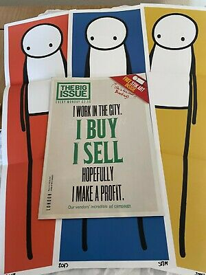 £1800 • Buy Stik..set Of Three Signed Prints From Big Issue 2013