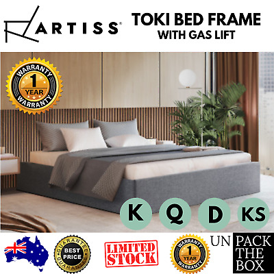 AU354.40 • Buy King Bed Frame Gas Lift Bed Frame Bed Base With Storage Queen Double King Single