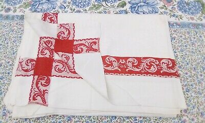 £9 • Buy French Vintage Linen Tablecloth