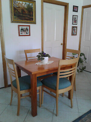 AU200 • Buy DINING TABLE WITH 4 CHAIRS, SOLID WOOD, Pickup STRATHFIELD NSW