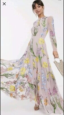 AU175 • Buy Asos Edition Embroidered Dress Size 12/14