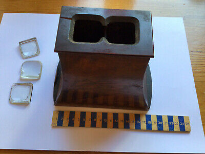 £19.99 • Buy Lovely Veneered Antique Stereoscopic Viewer With 6 Slides Needs Work