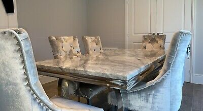 £1400 • Buy Marble Dining Table And Chairs 2m X 1m