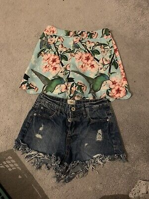 £9.80 • Buy Ted Baker Floral Shorts (size 0) Rover Island Denim Shorts (size 6)