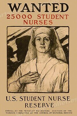 $20.95 • Buy  Wanted 25000 Student Nurses   WWI Classic Nursing Medical Poster - 24x36