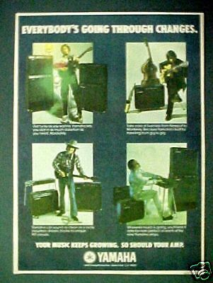 1975 Yamaha Electric Guitar Amps Key Boards Music AD • 5.20£