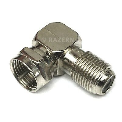 £8.72 • Buy 10 Pack F Type Right Angle 90 Degree Elbow Coax Cable Connector Adapter RG6 RG59