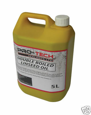 Double Boiled Linseed Oil - 5 Litres Traditional Wood Treatment Seal Bare Wood • 23.99£