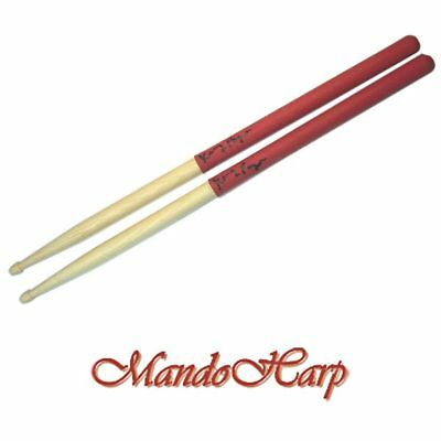 AU14.45 • Buy 'GRIPS' Drum Sticks - Hickory 7A Latex Hand Grips NEW