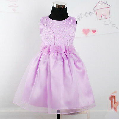 Flower Girl Party Bridesmaid Wedding Pagent Dress Pink Ivory Lilac Red • 16.99£