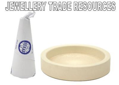 £14 • Buy BORAX CONE & CERAMIC DISH To Create FLUX FOR SOLDERING GOLD OR SILVER