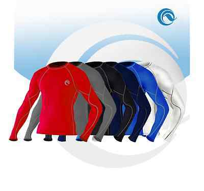 MENS Sport Base Layers Under Thermal Shirt Skin S-XL • 9.99£
