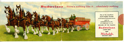 $ CDN26.05 • Buy 1940s Budweiser Double Postcard Of Clydesdale Wagon