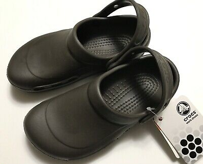 beec1e055 CLOSEOUT Crocs Bistro Oil And Water Slip Resistant Chocolate Size M4 W6 •  20.99