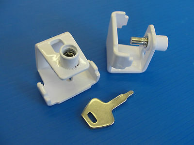 Pack Of 5 Security Window STAY CLAMP - Casement Stay Lock White Finish B1045 • 6.11£