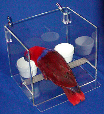 LESS MESS FEEDER SET TALL For Cage Or Table Top Parrot Bird Mess Control • 92.99£