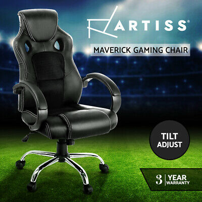 AU189 • Buy Artiss Gaming Office Chair Computer Chairs Seating Racer Racing Executive Black