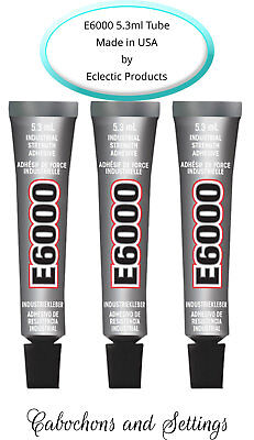 3 Tubes E6000 Industrial Glass, Jewellery, Pendant Glue 7.2g  Free Post • 4.99£