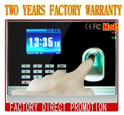 Fingerprint Employee Clock In Time Attendance Work, TCPIP+Backup Battery+RFID • 104.99£