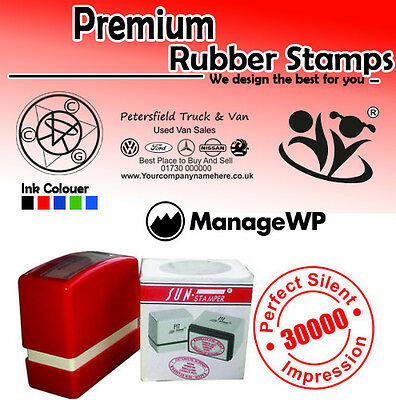 £13.99 • Buy CUSTOMISED SELF INK RUBBER STAMP, Business School Accounts Name Address Post