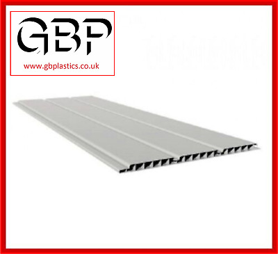 300mm Hollow Cladding, Soffit Triple Board 2 X 2.5M (White, Black And Brown) • 10.19£