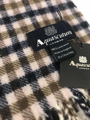 Aquascutum Pure Lambswool Scarf Classic House Check • 32.90£