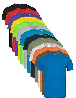 Hanes Or Stedman Mens Plain Slim Fitted Fit-T Cotton Tshirt Tee T-Shirt  • 4.99£
