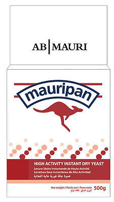 Mauripan Yeast 500g Instant Dry Bakers | Bread Machine/Hand Baking UK EXP 01/22 • 6.28£
