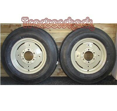 Front Wheels Tyres & Tubes X 2 To Fit Massey Ferguson 35X Tractor • 234.95£