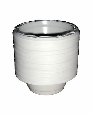 £6.95 • Buy 8oz White Disposable Plastic Dessert Bowls X 100 Catering / Takeaway Strong