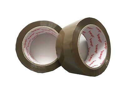 £49.95 • Buy 36 Rolls 48mm X 66m Vibac Brown Tape Low Noise Packaging Postal Strong Tape
