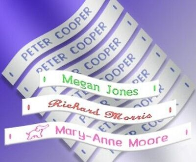£5.99 • Buy 72 Woven Sew In School Name Tapes Name Tags Labels - High Quality School Labels