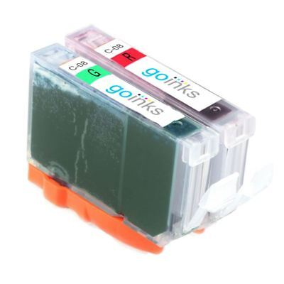 £4.99 • Buy 2 Ink Cartridges To Replace Canon CLI-8R & CLI-8G (Red/Green) For Pro 9000