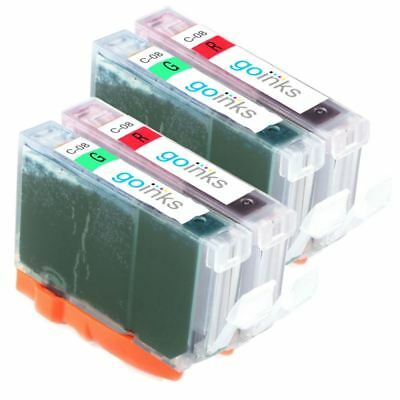 £6.55 • Buy 4 Ink Cartridges To Replace Canon CLI-8R & CLI-8G (Red/Green) For Pro 9000