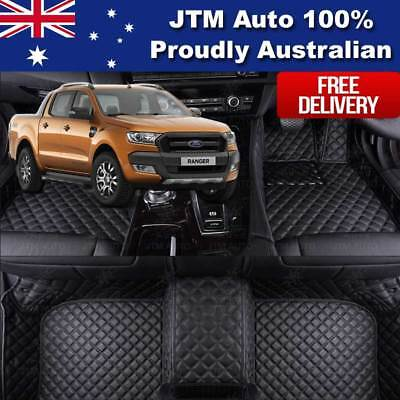 AU137.08 • Buy Custom Made Ford Ranger PX PX2 3D Floor Mats PU Leather Front + Rear 2012-2018