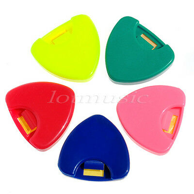 $ CDN6.74 • Buy 5 Pcs Guitar Picks Holder Color Can Hold Case Colorful Plastic