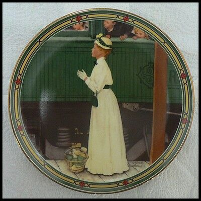 $ CDN8.25 • Buy Edwin M Knowles Norman Rockwell Plate  A Mother's Welcome