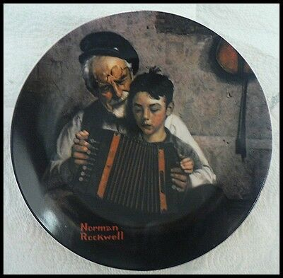 $ CDN7.46 • Buy Edwin M Knowles Norman Rockwell Plate The Music Maker