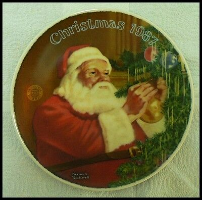 $ CDN8.80 • Buy Edwin M Knowles Norman Rockwell Plate   Santa's Golden Gift