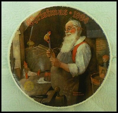 $ CDN8.04 • Buy Edwin M Knowles Norman Rockwell Plate  Santa In The His Workshop