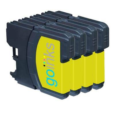£5.10 • Buy 4 Yellow Ink Cartridges Compatible With Brother DCP-165C MFC-250C DCP-6690CW